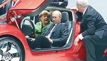 La Merkel e Putin