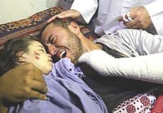 Palestina, un genitore disperato per la morte della figlia