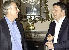 Renzi con Blair