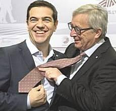 Tsipras con Juncker