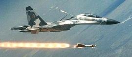 Un caccia Sukhoi Su-27 impiegato in Siria