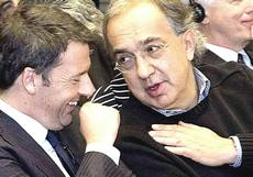 Renzi e Marchionne