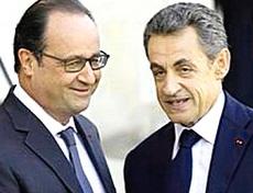 Hollande e Sarkozy