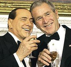 Berlusconi e Bush