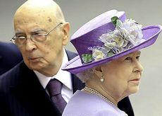 Napolitano con la regina Elisabetta