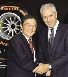 Ren Jianxin con Tronchetti Provera, Pirelli