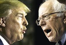 Donald Trump e Bernie Sanders