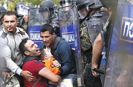 Profughi fermati in Macedonia