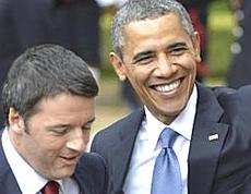 Renzi e Obama