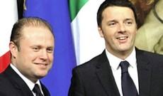 Joseph Muscat e Matteo Renzi