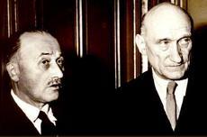 I francesi Jean Monnet e Robert Schuman