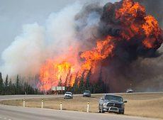 Incendio nello Stato dell'Alberta, Canada