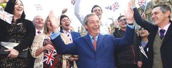L'esultanza di Farage