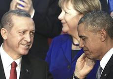 Erdogan con Obama e la Merkel