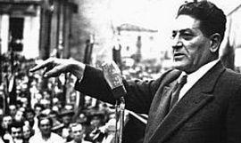 Il leader della Cgil Giuseppe Di Vittorio