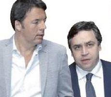 Renzi con il suo spin doctor Filippo Sensi