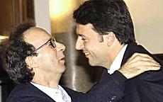 Benigni con Renzi