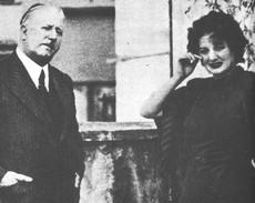 Claretta Petacci con il padre, Francesco Saverio