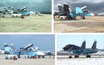 F-18 dipinti come i caccia russi (in basso a destra)