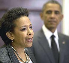 Loretta Lynch, capo del Dipartimento di Giustizia