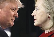 Trump e la Clinton