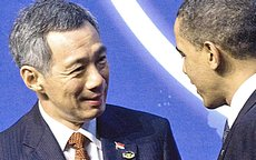 Lee Hsien Loong con Obama
