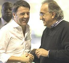 Renzi con Marchionne