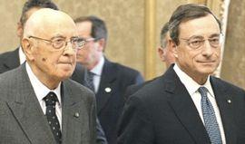 Draghi con Napolitano