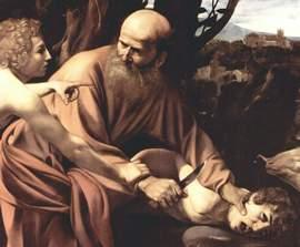 Caravaggio, il Sacrificio di Isacco