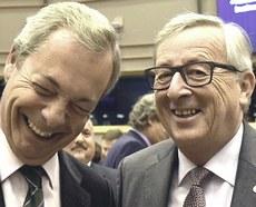 Farage e Juncker