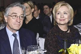 Hillary Clinton con Robert De Niro