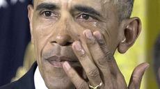 Obama in lacrime