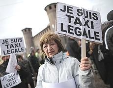 La rabbia dei tassisti