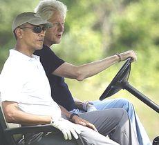 Obama e Clinton sui campi da golf