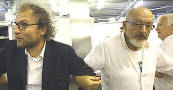 Il ministro Lotti con Tiziano Renzi