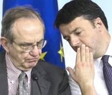 Padoan e Renzi