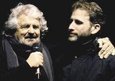 Davide Casaleggio con Grillo