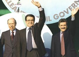 Dini, Prodi e D'Alema