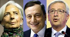 Lagarde, Draghi e Juncker