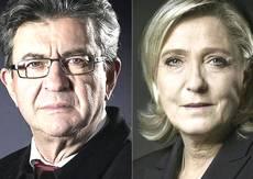 Mélenchon e Le Pen