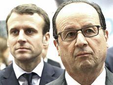 Macron alle spalle di Hollande