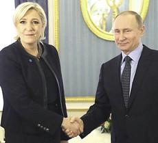 Marine Le Pen con Vladimir Putin
