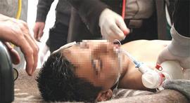 Uno dei bambini uccisi a Idlib