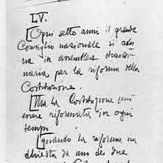 Il primo manoscritto della Carta del Carnaro