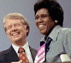 Barbara Jordan con Jimmy Carter