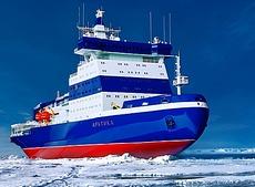 L'enorme rompighiaccio Arktika