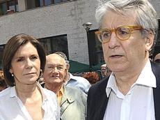 Luigi Manconi con la moglie, Bianca Berlinguer