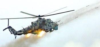 Un elicottero d'attacco Mi-24