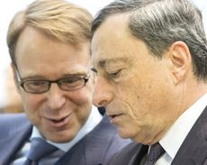 Weidmann con Draghi