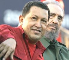 Chavez con Fidel Castro
